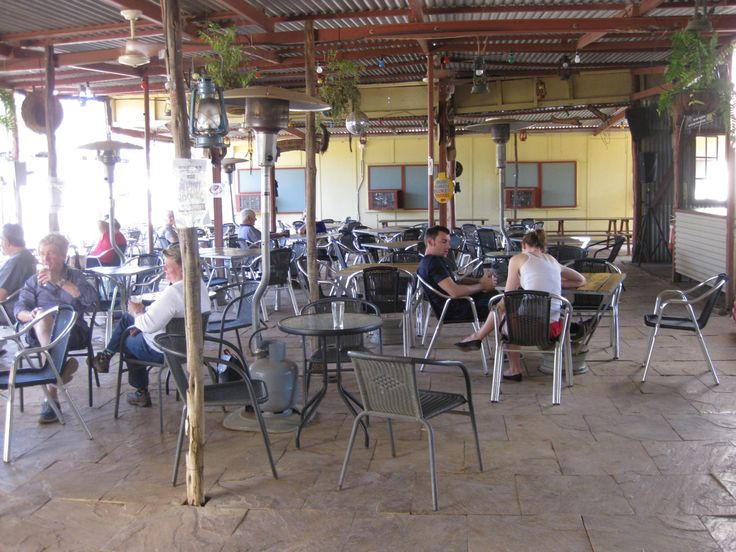 """""""Beer garden """" by TravelPod blogger kilbridesblog from the entry """"Daly Waters Pub and The Pebbles."""" on Tuesday, July 22, 2014 in Daly Waters, Australia"""