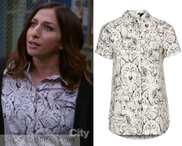 Brooklyn Nine Nine: Season 3 Episode 22 Gina's Wolf Print Shirt