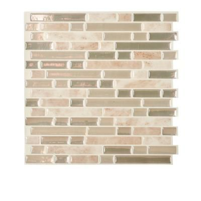 Smart Tiles 10.25 in. x 10 in. Bellagio Mosaic Decorative Wall Tile in Sabia (6-Pack)-SM1043-6 at The Home Depot