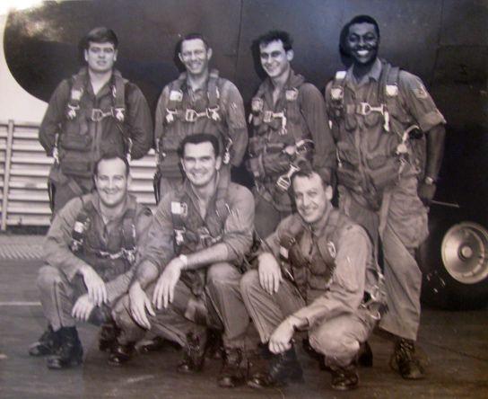 USAF Lockheed C-130A crew at the Royal Thai Air Force Base, Thailand, 1967.