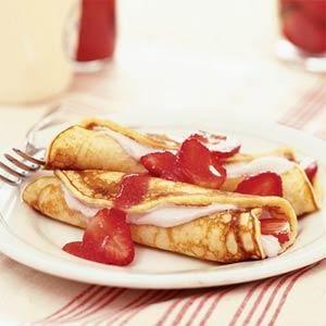 Strawberry Pancake Roll-ups | MyRecipes.com