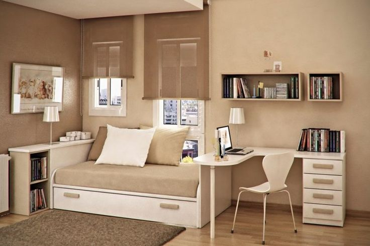 Interesting Bedroom Apartment Furnishing Ideas For Small Space With Light Grey…