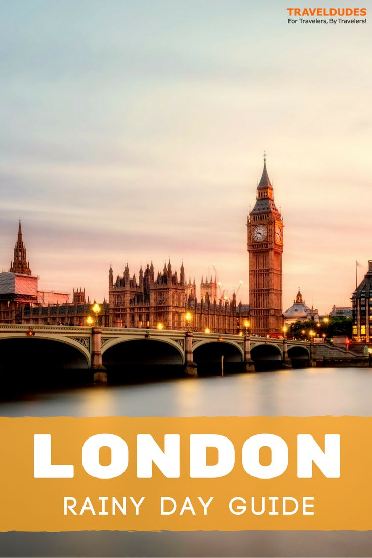 While London easily ranks as one of the best and most visited cities in the world, it is also a fact that the city is known for its frequent rain, fog and unpredictable weather. This London city guide includes a list of the best things to do in London on a rainy day. Travel in England. | Travel Dudes Social Travel Community #London #England