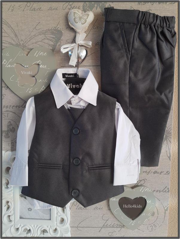 Antraciet grijs baby kostuum Vivaki