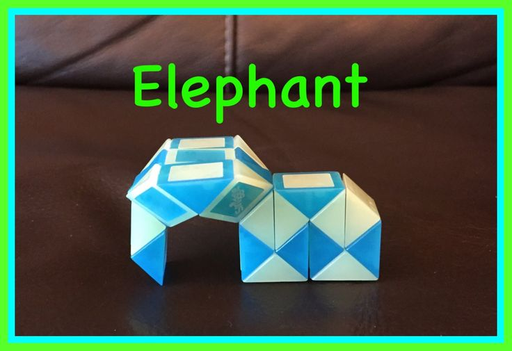 Smiggle Snake Puzzle (Rubik's Twist): How To Make An Elephant...Step by ...