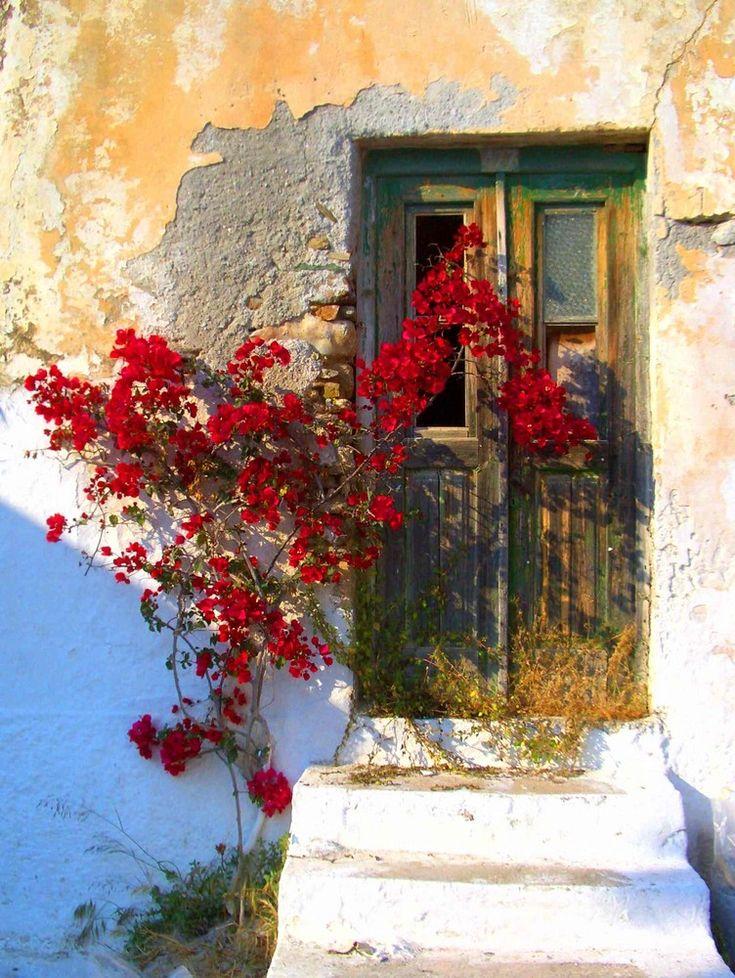 Door in Naxos, Cyclades, Greece