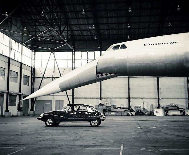 citroen ds & concorde. Classic Car Art&Design @classic_car_art #ClassicCarArtDesign