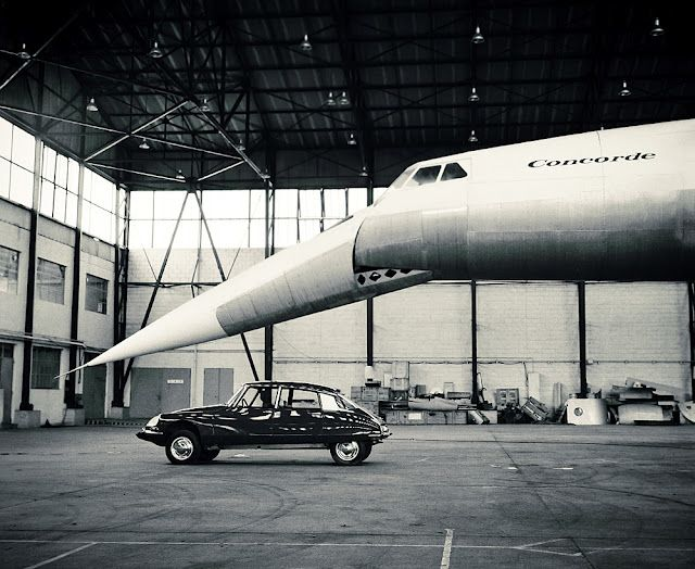 Two of the greatest achievements of French manufacturing: Concorde and the Citroen DS 19