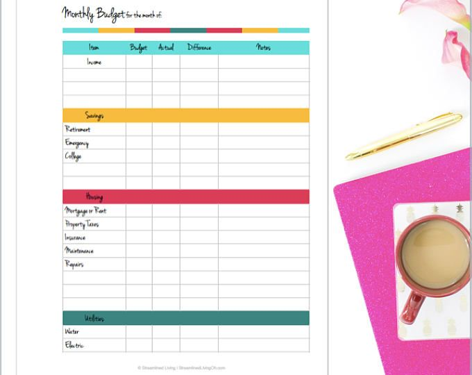 Best  Household Budget Worksheet Ideas On   Budget