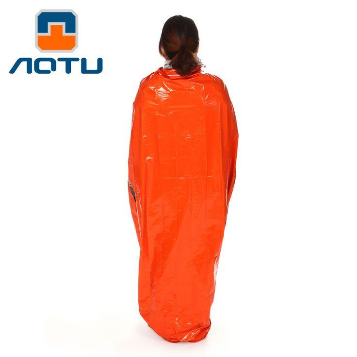 PE Outdoor Emergency First Aid Sleeping Bags Anti-Radiation Adiabatic Lifesaving Sleeping Bag Orange Survival Bag AT9040
