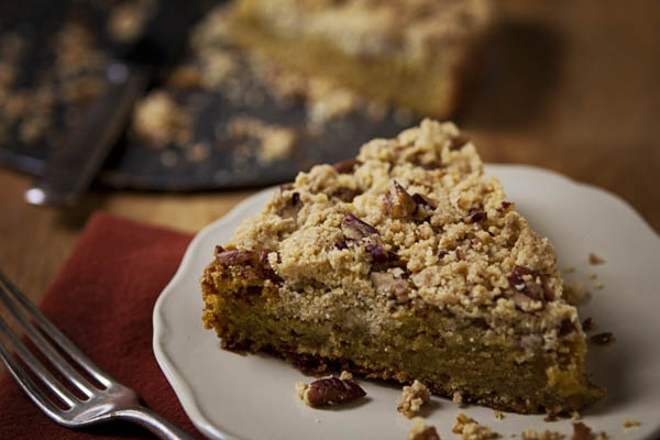 Post image for GLUTEN-FREE PUMPKIN BUCKLE WITH SUGARED PECANS