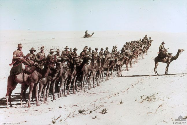 WWI: Australian soldiers in Egypt