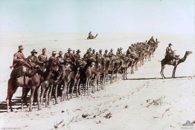 WWI Soldiers - Australian soldiers in Egypt