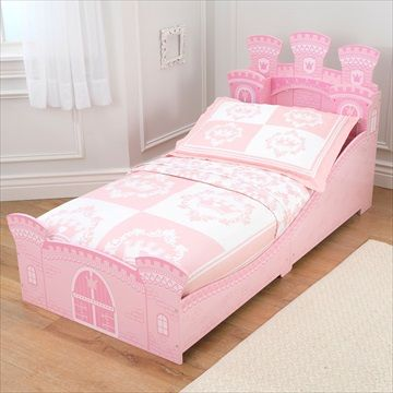 KIDKRAFT BARNESENG 'Prinsesseslottseng/Princess Castle Toddler Bed' Frifrakt Kr 1749
