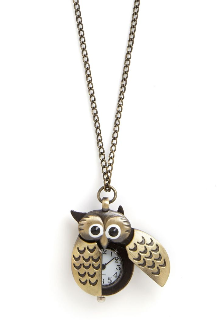 Owl Be Watching You Necklace, #ModCloth Crazy about Owls, and even more about corny owl jokes!