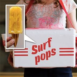 Surf Pop Popsicles with wooden surfboard sticks! ... with flavors that reflect sun, sand and sea. Sun= habanero peppers, lime, mango. Sand = almond, black sesame, caramel. Sea = cucumber, vanilla, mint.: Reflection Sun, Black Sesame, Gifts Ideas, Habanero Peppers, Wooden Surfboard, Surfing Pop, Surfboard Sticks, Juice Bar, Pop Popsicles