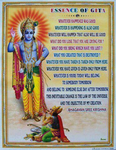 From Hindu spiritual book GITA.KRISHNA and Arjun(MAHABHARATA)