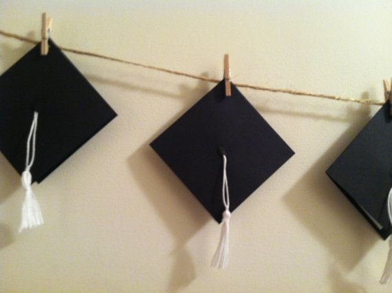 Use on Fireplace without the message back.    Graduation Cap Hat Advice Message Banner by sweetclicks on Etsy, $21.50