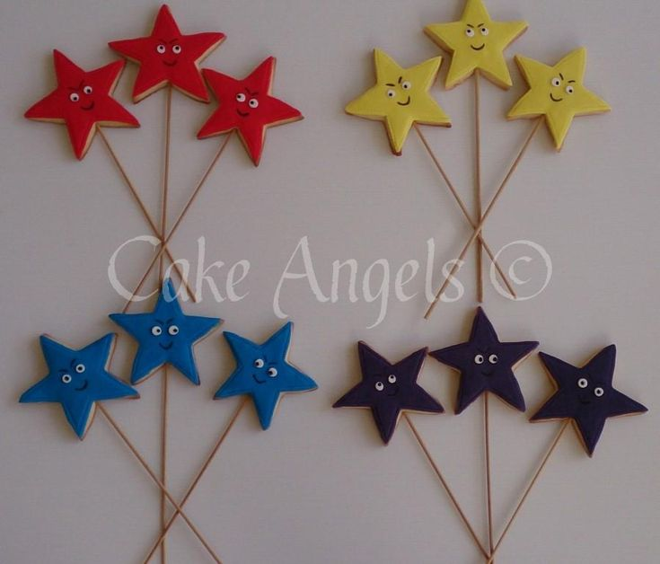 Coloured Star Cookies