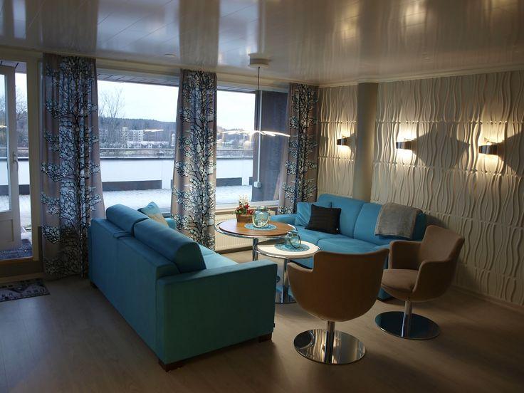 #Penthouse #livingroom #led-lightning #3D-panels #Vallila #Selka-Line #interiordesign #renovation #interiorarchitect