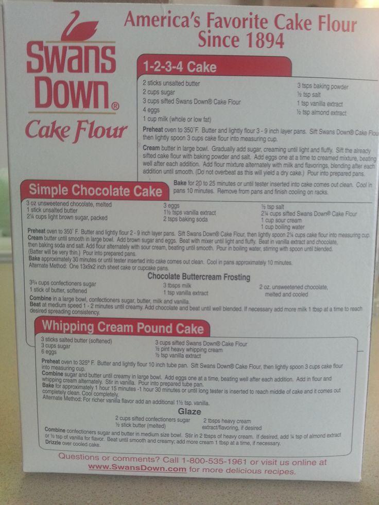Pound Cake Using Swans Down Cake Flour