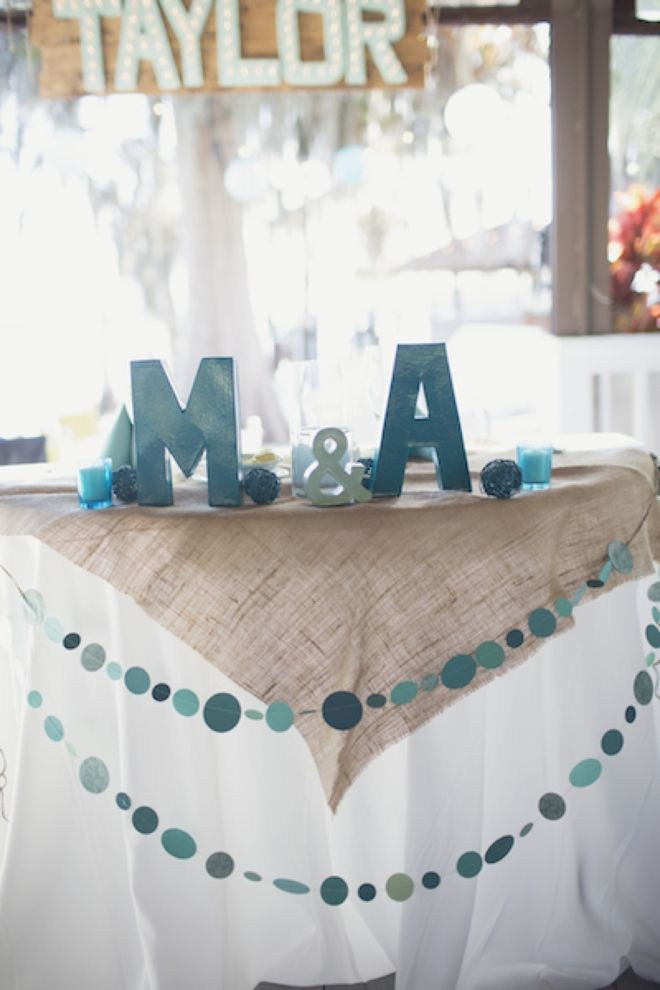 Michael And Addieu0027s Turquoise DIY Wedding Is A Must ...