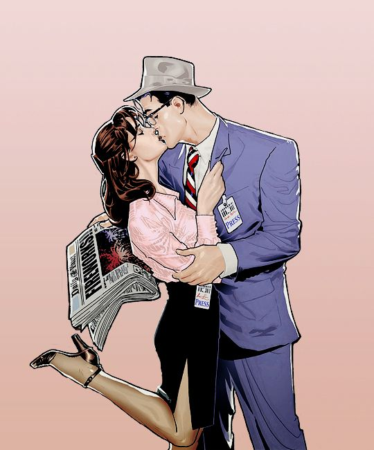 Lois Lane & Clark Kent by Ryan Sook