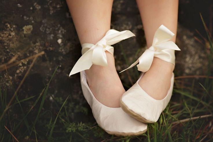 Flower Girl Ballet Flat ShoeIvory Flower by HopefullyRomantic