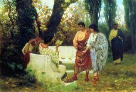 PALLIUM. Manto griego. Era una toga de menor tamaño cuyo uso se generalizó a partir del año 100 d. C.
