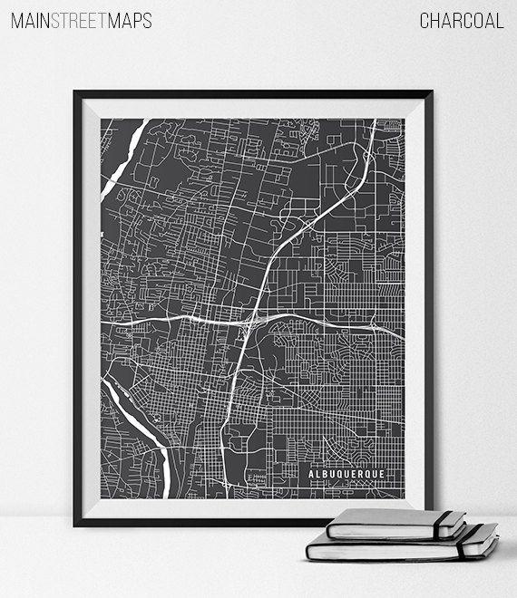 Albuquerque Map Art Print Albuquerque City Map by MainStreetMaps https://www.etsy.com/listing/226617287/albuquerque-map-art-print-albuquerque?ref=shop_home_active_1
