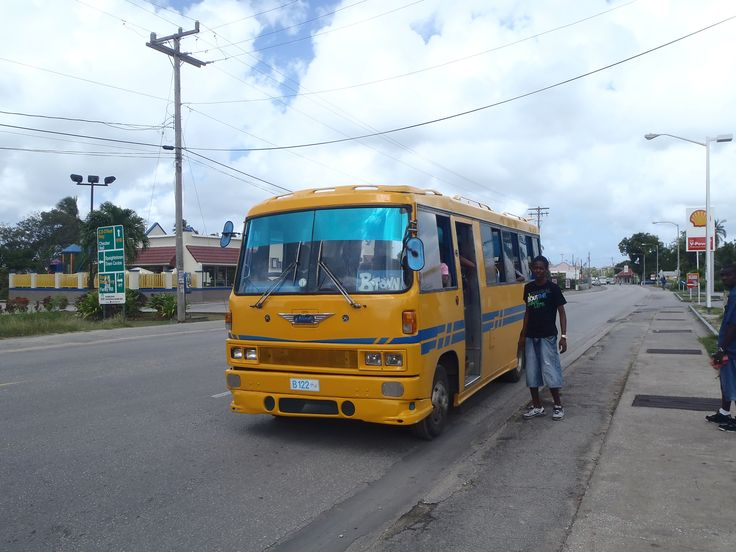 "One of the infamous privately owned ""reggae buses"". A journey on one of these can be quite a white-knuckle ride!"