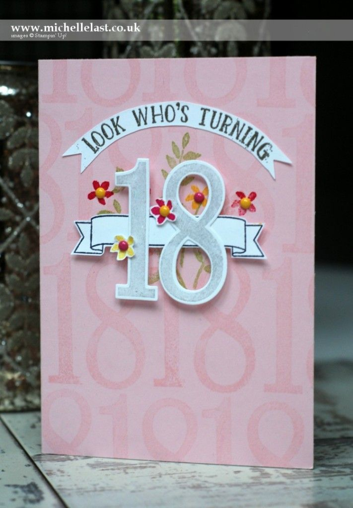 #GDP015 using new set Number of Years from Stampin' Up! - with Michelle Last