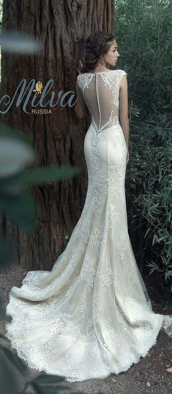 Princess, lace, back, buttons, wedding, gown, bridal, dress, mermaid, illusion, applique, train