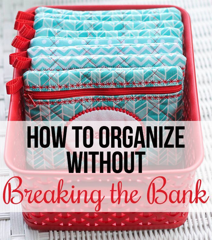 Check Out these Awesome Tips on How to Get Organized on a Budget! Great ideas for budget friendly home organizing.