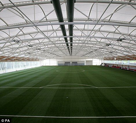 Well equipped: The indoor training pitch at St George's in Burton-Upon-Trent.