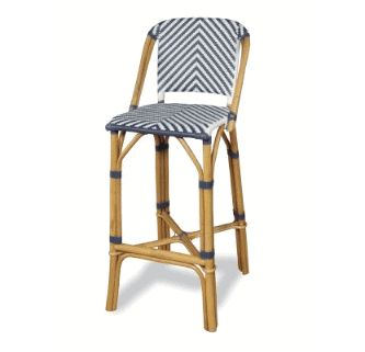 Rum Point Rattan Bar Stool - Navy in lacquer - Progressive Furniture A146-42N