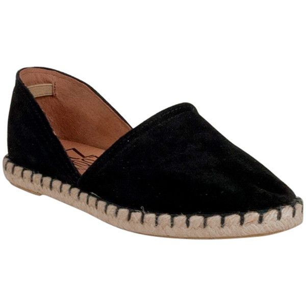 Miz Mooz Women's Celestine Espadrille Flat ($70) ❤ liked on Polyvore featuring shoes, flats, black, espadrilles shoes, black espadrilles, miz mooz flats, flat shoes and black rubber sole shoes