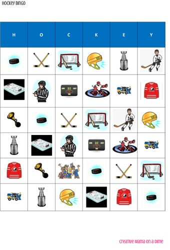 Bingo is a game that is easy enough to play with kids of all ages but fun for all. With these hockey themed bingo cards it is sure to be a hit.