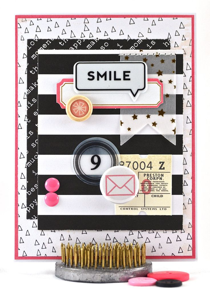 Birthday Card - Kids Birthday Card - Girls Birthday Card - 9th Birthday Card - Ninth Birthday Card - Tween Birthday Card - Pink Black White - pinned by pin4etsy.com