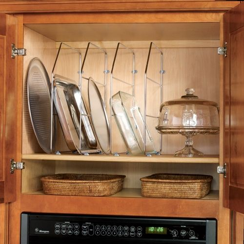 cabinet tray divider with clips kitchens storage cabinets rh pinterest com