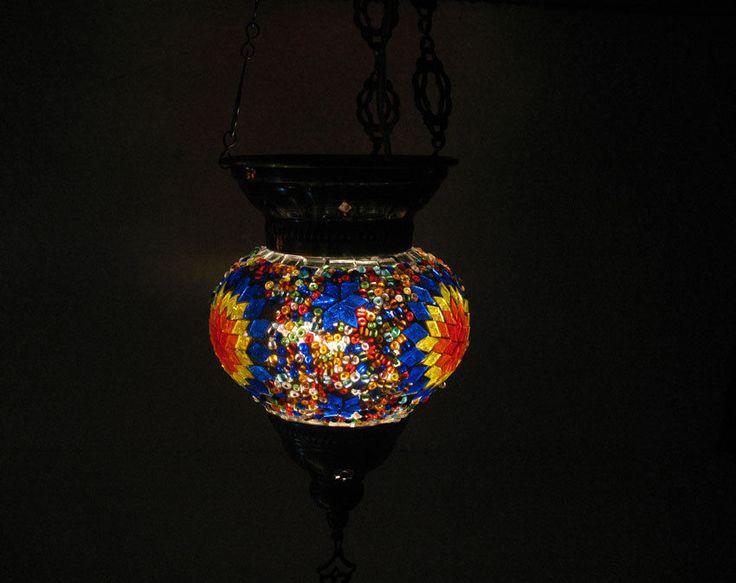 no reserve turkish mosaic hanging lamp glass chandelier. Black Bedroom Furniture Sets. Home Design Ideas