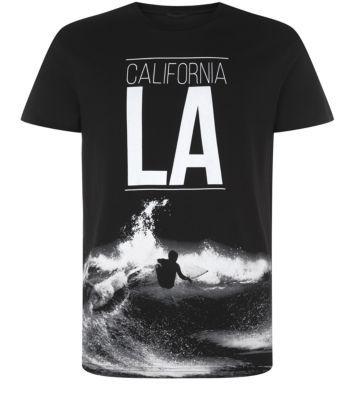 Black LA California Surfer T-Shirt