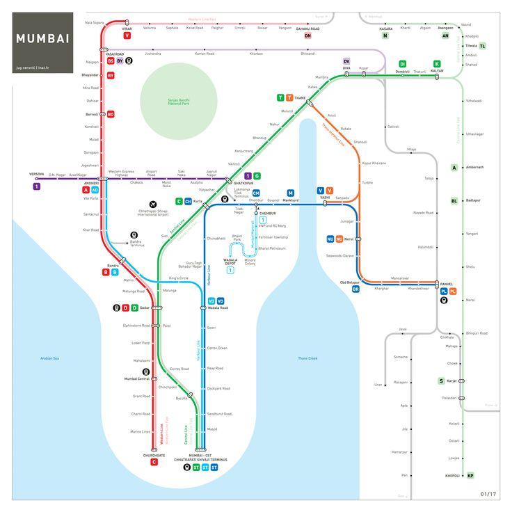 Mumbai Metro Map : INAT maps