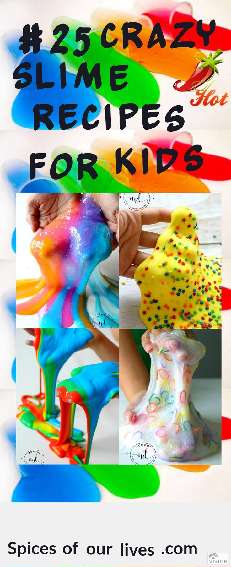 25 crazy slime recipes for kids. Birthday slime, rainbow explosion slime, slime painting diy, kinetic slime diy recipe and expirment, make bubble slime blow slime bubbles, sprinkle slime recipe, fairy slime, shooting star slime, loom bands slime and toutrial