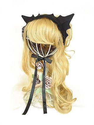 黒猫ヘッドドレス - Antique beasT