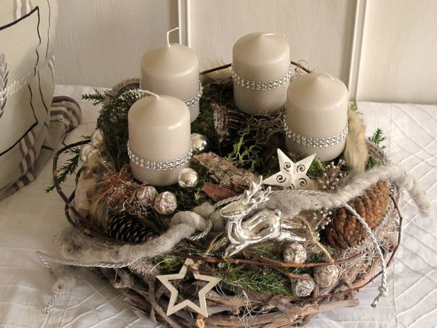 15 best images about adventskranz on pinterest shops - Baumstamm deko laterne ...