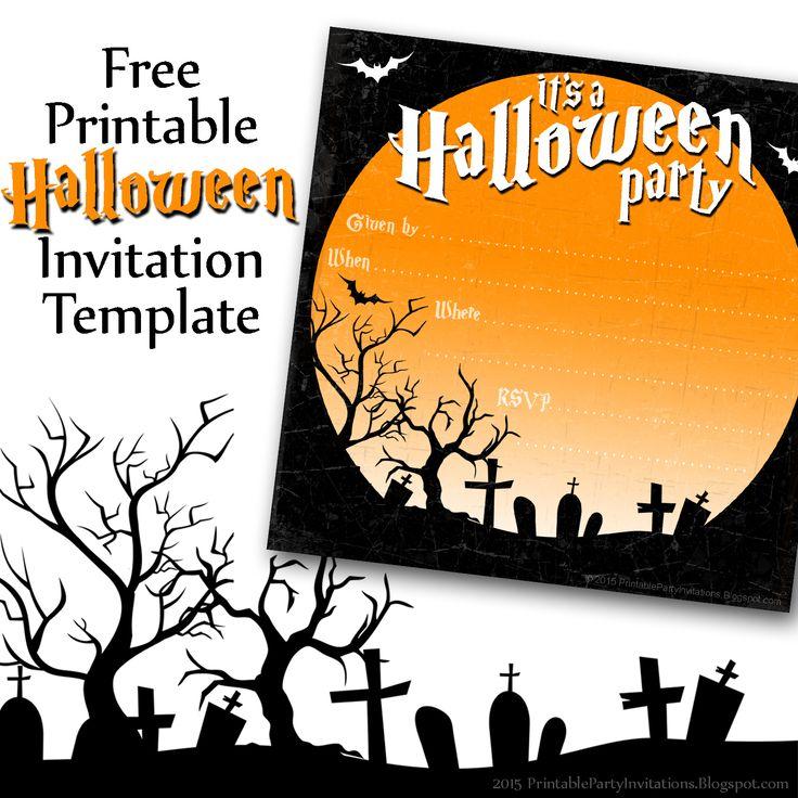free printable halloween invitation party printables. Black Bedroom Furniture Sets. Home Design Ideas