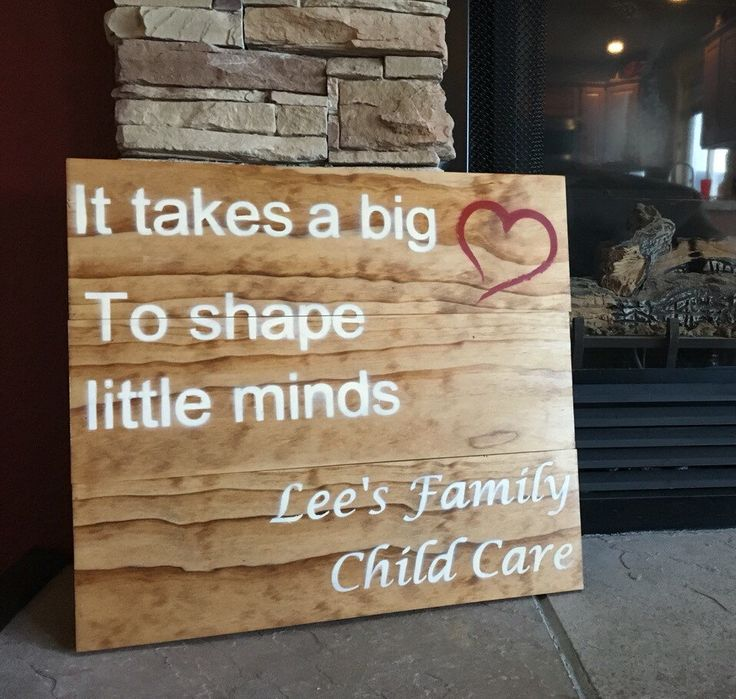 A personal favorite from my Etsy shop https://www.etsy.com/listing/271910324/it-takes-a-big-heart-daycare-provider