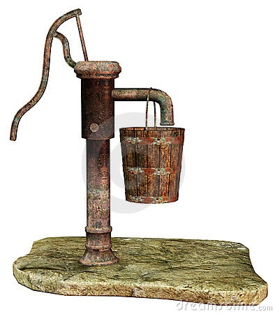 vintage water pump-my grand ma had one...water was always soooo cold!