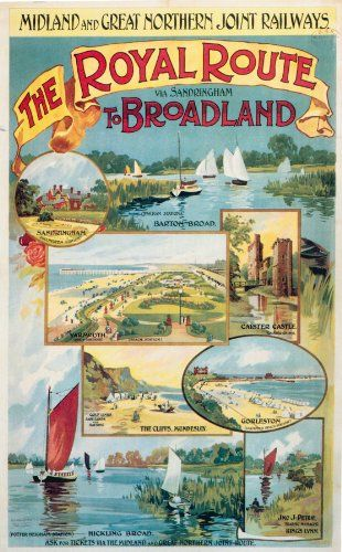 WONDERFUL A4 GLOSSY PRINT - 'MIDLAND & GREAT NORTHERN JOINT RAILWAYS - BROADLAND' (A4 PRINTS - VINTAGE RAILWAY ADVERTISING POSTERS) by Unknown http://www.amazon.co.uk/dp/B0043IPDS4/ref=cm_sw_r_pi_dp_YQhmvb1ZBVMH7